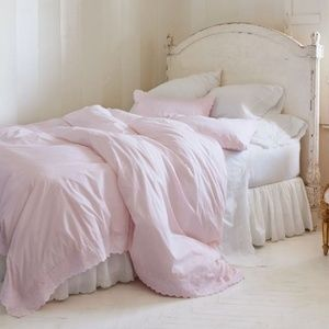 Simply Shabby Chic Pink Ethereal Embroidered Duvet